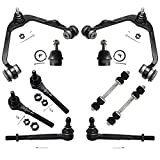 Detroit Axle - 2WD Front Upper Control Arm for Ford F-150, Expedition, Lincoln Navigator Blackwood, Ball Joint, Tie Rod, Sway Bar - 10pc Suspension Kit