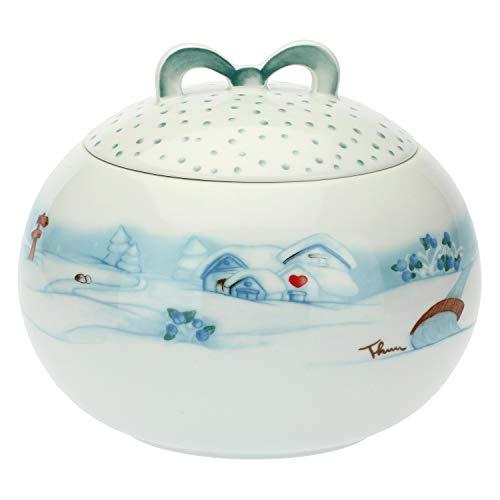 THUN ® - Biscottiera in Porcellana Preludio d'inverno