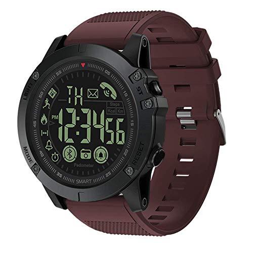 T1 Tact Smartwatches Militärische Klasse Super Tough Smartwatch Bluetooth-Tracker wasserdichte Multifunktions-Smartwatch für Männer Frauen Kompatibel mit Android iOS-Handys (Rot)