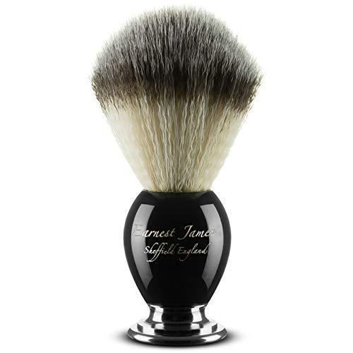 """Rasierpinsel """"PHOENIX CLUSTER BLACK"""" - Rasierpinsel für eine Nassrasur mit Creme und Seife inkl. Rasierschale – Für Herren Rasierhobel mit doppelter Schneide, synthetisches Haar Set ohne Dachshaar"""