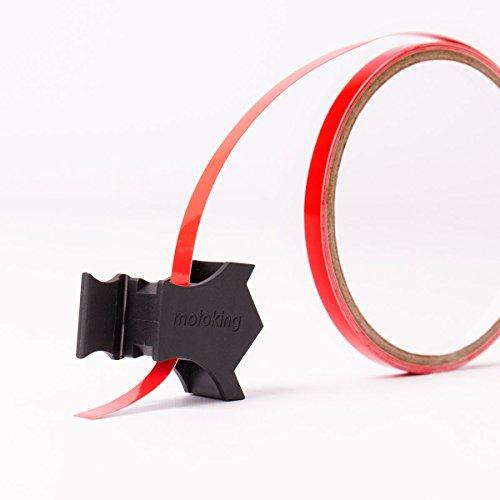 Motoking Felgenrandaufkleber mit Montagetool für Ihr Motorrad in NEON GRÜN / 6 mm / für 10″ bis 25″ - 2