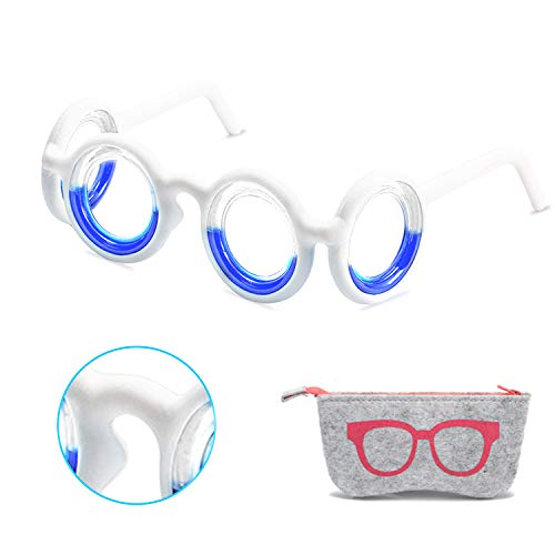 Newest Anti- Motion Sickness Smart Glasses, Ultra-Light Portable Nausea Relief Glasses, Raised Airsick Sickness Seasickness Glasses for Sport Travel Gaming, No Lens Liquid Glasses for Adults or Kids