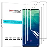 NEWZEROL Bildschirmschutzfolie für OnePlus 7/ZTE Axon 10 Pro/Pro 5G, 3 Stück mit Fingerabdruck-Erkennung, Premium-Qualität, blasenfreies TPU, 3D-Kante zu Kante volle Abdeckung Weiche Bildschirmschutzfolie