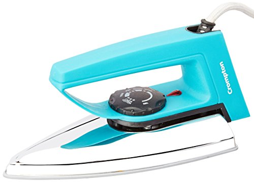 Crompton Greaves RD 750-Watt Dry Iron with Double Layer Non-stick Coating (Blue)