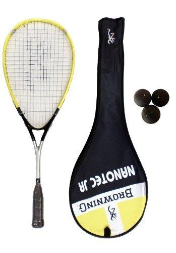 Browning Nanotec Jr Junior Raqueta de Squash + unidades pelotas de Squash