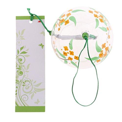 Fenteer Japanisches Glas Windspiel Glocke Hängen Ornament Garten Haus Balkon Fenster Dekoration - #19
