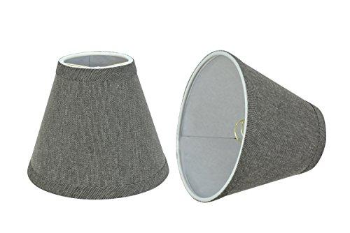 Aspen Creative 32122-2 Small Hardback Empire Shape Chandelier Set (2 Pack), Transitional Design in Grey, 6' Bottom Width (3' x 6' x 5') Clip ON LAMP Shade