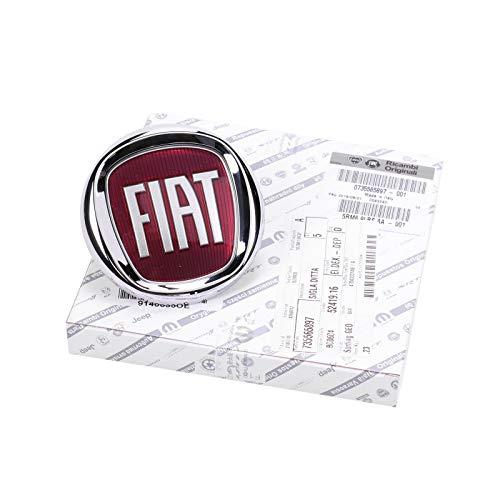 Fiat 735521414 Emblème d'origine Fiat 500 pour coffre/hayon de voiture