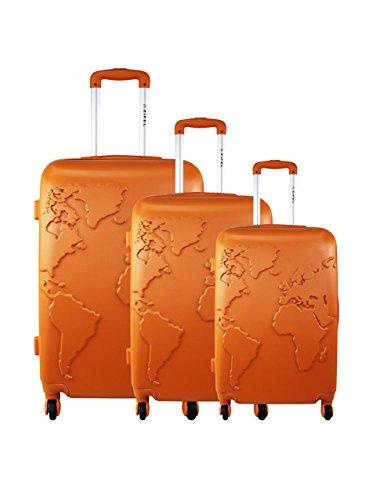 ZIFEL Set de 3 trolleys rígidos Naranja 71 cm