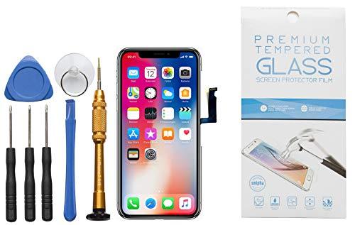 GIKEB Display vervanging voor Apple iPhone | compleet LCD Retina-glas | reparatie | met beschermfolie & gereedschap | 3D Touch | hoge kwaliteit