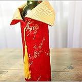 Amosfun 2020 Neujahr Weinflasche Abdeckung Chinesische Silvester Weinbeutel Flaschen Beutel Flaschen Kleidung für Abendessen Bankett Tischdeko - 3