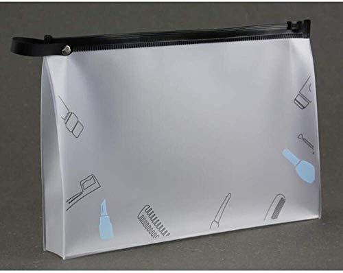 Stockage Stockage cosmétique de stockage en plastique mat Fermeture éclair Sac fourre-tout multi-fonction portable étanche Sac de lavage 2PCS / LOT Sac cosmétique Eva environnement outil de stockage m