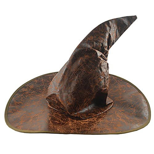 routinfly Sombrero de bruja para mujer, unisex, grande, con fruncido