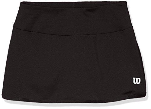Wilson, G Team 11 Skirt, Falda de tenis para niña, Poliéster/licra, Negro, Talla: S, WRA766902