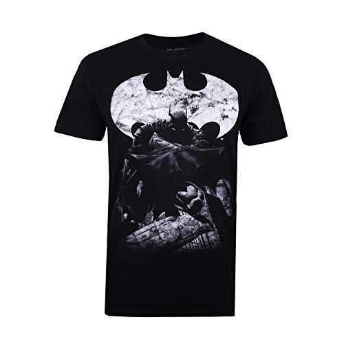 DC Comics Dark Knight Camiseta, Negro (Black Blk), X-Large para Hombre