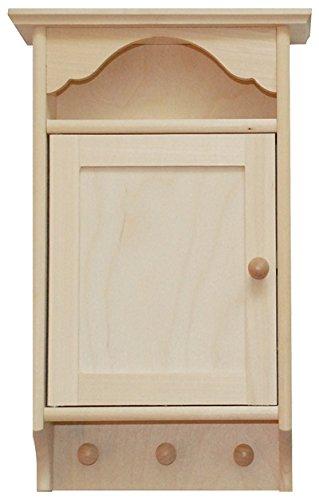 Wooden World Armario de Llaves - Caja de Almacenamiento Ganchos Soporte Decoupage Madera luz K05