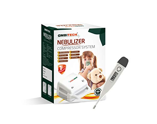 AmbiTech Compressor Nebulizer Machine Kit White (Made in India)