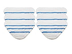 Microfibre Cloth Reusable Cleaning Pads by Deals365 to fit Bush SMB1501UK Steam Cleaner Mops (Pack of 6) Ultra soft, durable, thick & absorbant micro fibre re-usable, washable cleaning cloth pads. Cleans all hard floor surfaces such as laminate, tile...