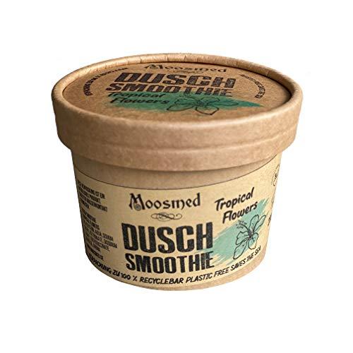 Moosmed Dusch Smoothie Tropical Flowers - vegane Bio-Seife handgefertigt in Deutschland – Dusch Butter mit Peeling Effekt