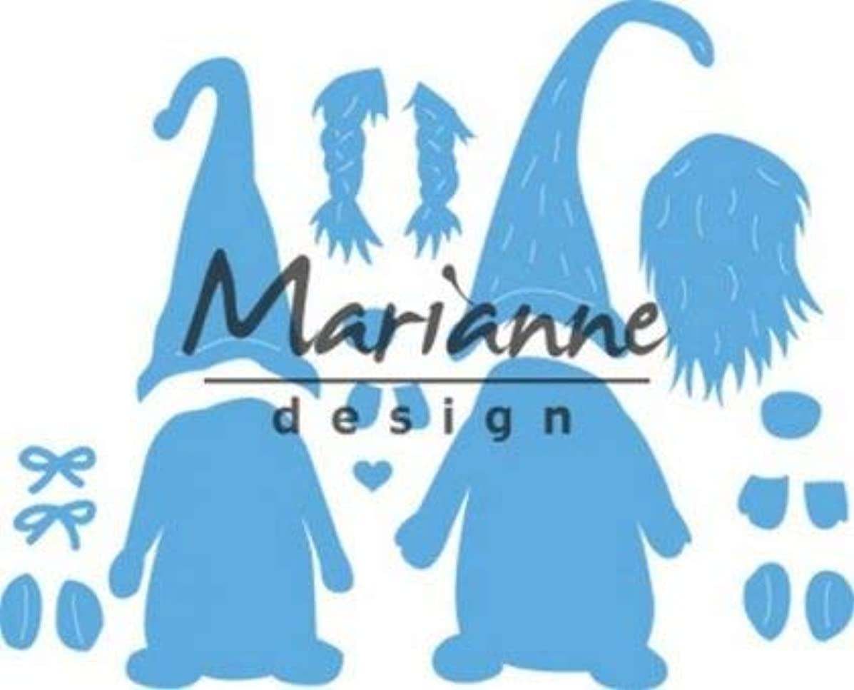 Marianne Design Craftables,tomte gnome Cutting and Embossing Die for Craft Projects, Argent