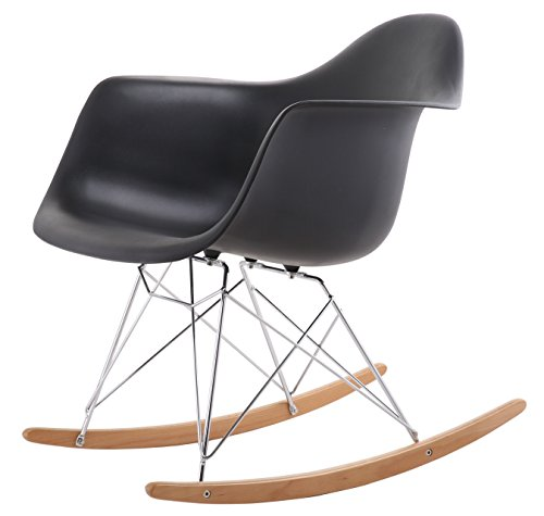HNNHOME Lounge Retro Rocker Rocking Chair Leisure Armchair Black