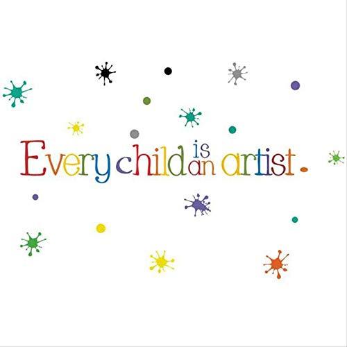 ColorInglésPegatinas De ParedFrase CortaNiño Es Un ArtistaJardín De Infantes Centro De Educación Temprana Decoración De La Pared