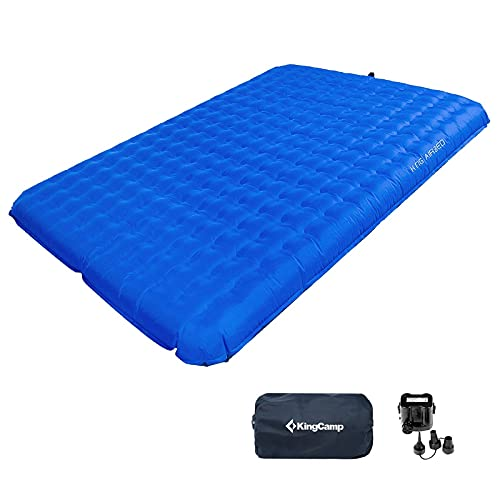 KingCamp Unisex Blue Camping Air Pad Bed 2 Persoon, One size