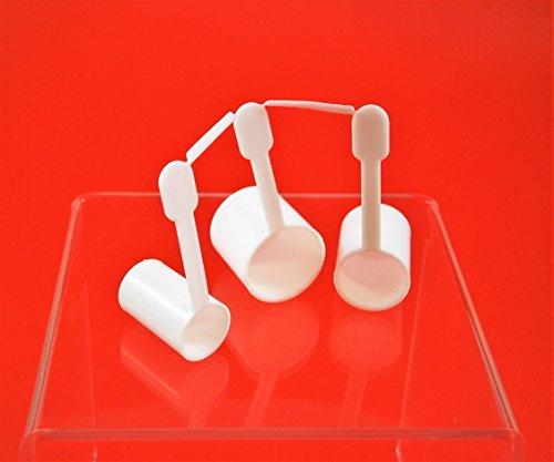 AlcoFermBrew Dosierhilfe für Zucker - 3 Teile - Meßlöffel für die Nachgärung in der Flasche - Zuckermessbecher
