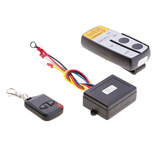 Gazechimp 12V / 24V Winch Kit De Control Remoto Interruptor Auricular para Coche UTV ATV SUV KLS-998X para Remolque Bomba Hidráulica Jack De Elevación