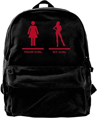 Yuanmeiju Schulreiserucksack, der Fisch Unisex Canvas Rucksack für Männer Frauen Leichte Reise Wandertasche Student Bookbags Laptop Rucksack