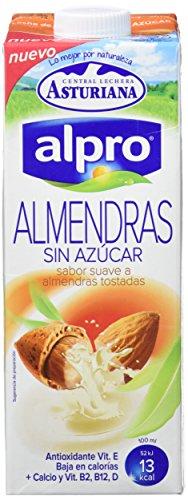 Imagen del producto Alpro Central Lechera Asturiana Bebida de Almendra Sin Azúcar - Paquete de 8 x 1000 ml - Total: 8000 ml