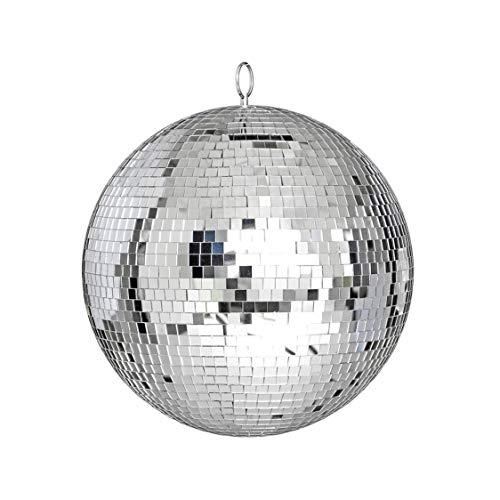 Große Spiegelglas-Discokugel DJ Dance Home Party Bands Club Bühnenbeleuchtung Durable Disco Ball Light - Silber