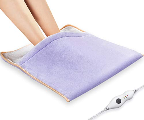 """Heating Pad, Electric Heated Foot Warmer - Auto Shut Off, Ultra Soft Flannel Heat Therapy Wrap Extra Large for Feet, Back, Waist, Abdomen with Extra Long Cord, 21"""" x 20"""" by PROALLE"""