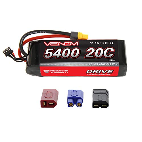 Venom 20C 3S 5400mAh 11.1V LiPo Battery with Universal Plug (EC3/Deans/Tamiya)