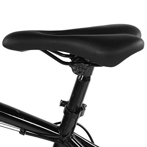 Fournyaa Sillín de Bicicleta, Asiento de Bicicleta de Repuesto Duradero, para Mujeres y Hombres Bicicleta de montaña Bicicleta de Carretera Bicicleta estática(Black)