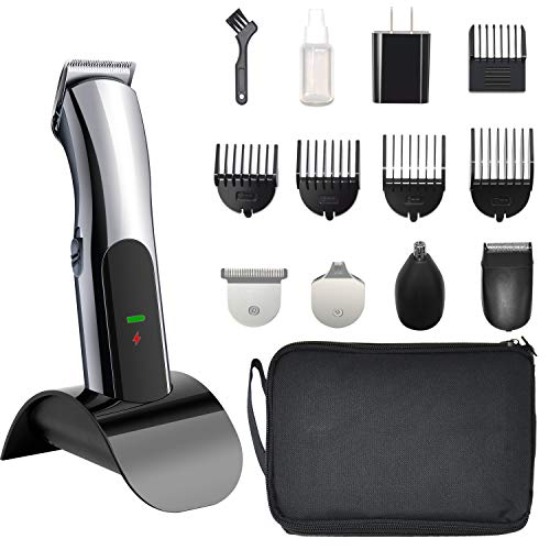 Electric Mustache and Beard Trimmer, 5 in 1 Fast...