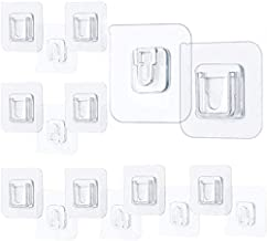 Double-Sided Adhesive Wall Hook 12 Pieces, Multi-Purpose Hooks Home Organization and Storage Shelf Strong Viscose Wall Hoo...