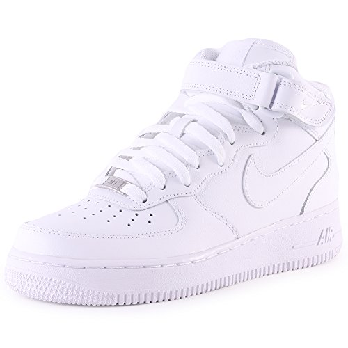 Nike Air Force 1 Mid 07 Zapatillas para Hombre, Blanco, Talla EU 44.5 ( 9.5 UK)
