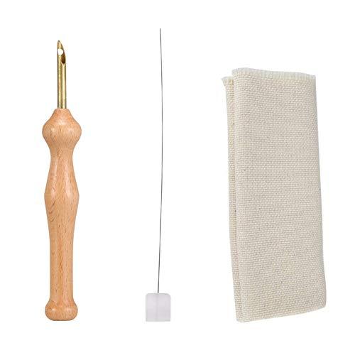 ieenay Häkelnadel Sticken Magische Stickerei Punch Nadel Filzen Threader Tuch Set Holzgriff Tischdecken Handwerk Werkzeuge DIY Nähen