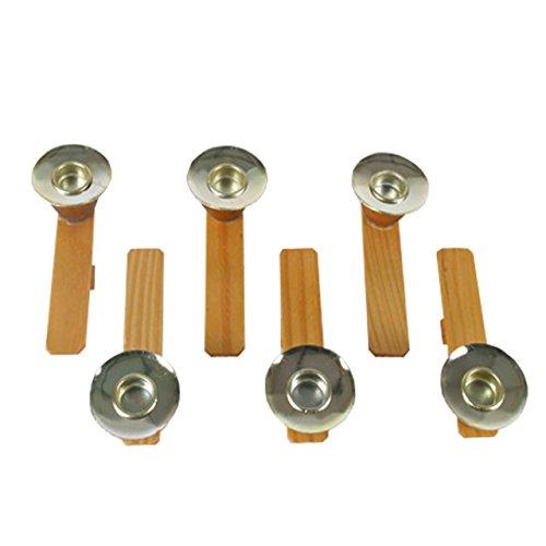 OBC-Kunsthandwerk Kerzenhalter (Ersatz für Weihnachts-Pyramide 261772), H: 90 mm x W: 17 mm, Dia. 35 mm, natur, 6 Stück/Set