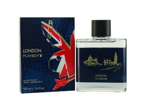 Playboy London Eau de Toilette Spray for Men, 3.4 Fluid Ounce by Playboy [Beauty] (English Manual)