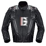 バイク用 メンズ ジャケット オートバイフォーシーズンズレーススーツ、オートバイスーツ、オートバイスーツ、秋の秋の集会スーツ 通気性 (Color : Black, Size : XXX-Large)