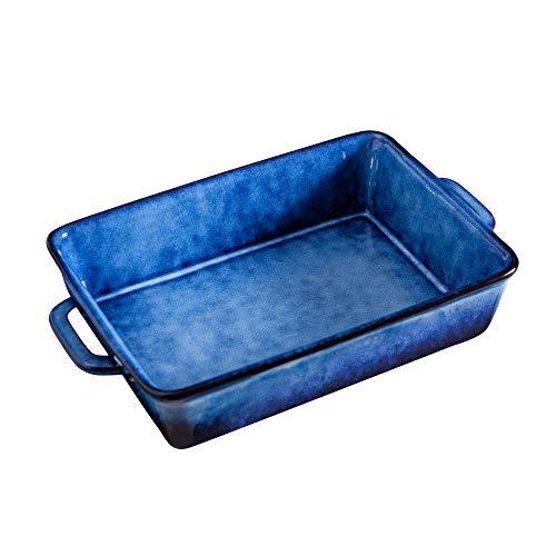 SIDUCAL Porcelain Bakeware Set, Ceramic Baking dish pan, 10 x 7 inch Casserole Dish Set Rectangular Baking Pans Set, Lasagna Pan for Cooking Cake Dinner Kitchen, Dishwasher Safe