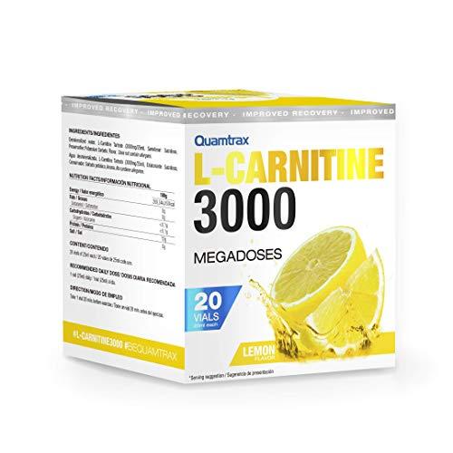 Quamtrax L-Carnitine 3000 Sabor Limón - 20 viales x 25ml