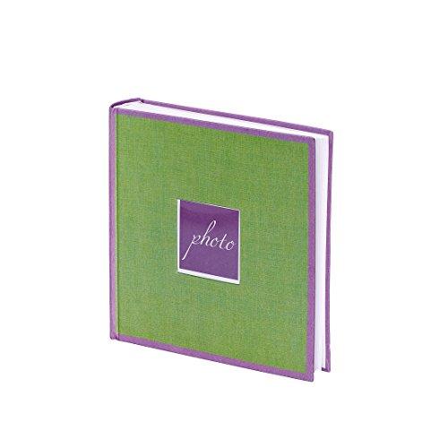 Unbekannt Fotoalbum Helsinki, hochwertiges Leinen, grün, lila, 23 x 23 cm