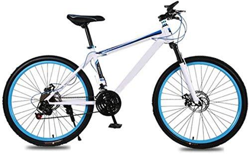 Mountain Bike for Adulti 26 Pollici 21 velocità d'urto Freni a Disco Doppio Student Biciclette Uomo Donna Città Commuter Biciclette, Perfetto for Strada o sporcizia Trail Touring (Color : Blue)