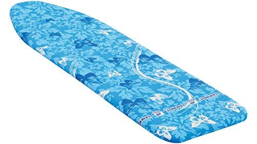 Leifheit Bügeltischbezug Thermo Reflect S, für Bügelflächen bis max. 112 x 34 cm, für Dampfbügeleisen, mit Hitze- und Dampfreflektion für 33% schnelleres Bügeln, mit elastischem Gummizug