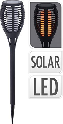 Smart-Planet® - Antorcha solar para jardín - Antorcha solar para jardín - Antorcha de jardín 96 LED Spotlight IP65 impermeable - D 10 x H 58 cm