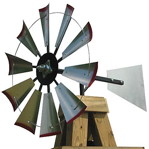30-inch Windmill Head w/Plain Rudder & Instructions to Build an 8-Foot Tall Windmill