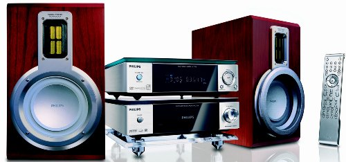 Philips Microcadena con DVD MCD708/12 - Equipo de Home Cinema (Reproductor de DVD, 100, 200, Dolby Digital, Alemán, Holandés, Inglés, Español, Francés, Italiano, Portugués, Sueco, Turco, VFD, 1 W)